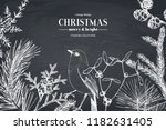 vector greeting card or... | Shutterstock .eps vector #1182631405