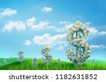 3d rendering of endless green... | Shutterstock . vector #1182631852