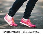 young fitness female runner... | Shutterstock . vector #1182636952