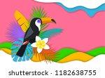 tropical banner in  digital...   Shutterstock . vector #1182638755