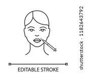 lips neurotoxin injection...   Shutterstock .eps vector #1182643792