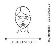 mimic wrinkles linear icon....   Shutterstock .eps vector #1182643828