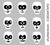 cartoon day of the dead masks... | Shutterstock .eps vector #1182647692
