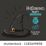 halloween party invitation card | Shutterstock .eps vector #1182649858