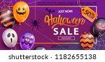 sale banner for happy halloween ... | Shutterstock .eps vector #1182655138