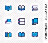 vector illustration of 9 book... | Shutterstock .eps vector #1182655165