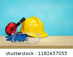 safety equipment   hardhat ... | Shutterstock . vector #1182657055