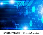 blue hexagons and arrow icons... | Shutterstock .eps vector #1182659662