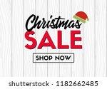 christmas sale. shop now.... | Shutterstock .eps vector #1182662485