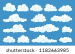 big set of vector cartoon... | Shutterstock .eps vector #1182663985