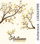vector illustration autumn... | Shutterstock .eps vector #1182663988
