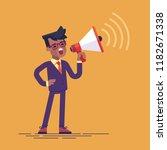 an african american businessman ... | Shutterstock .eps vector #1182671338