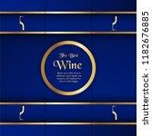 luxury packaging template in... | Shutterstock .eps vector #1182676885