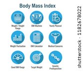 bmi   body mass index icon set...   Shutterstock .eps vector #1182678022