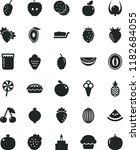 solid black flat icon set cake... | Shutterstock .eps vector #1182684055