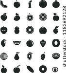 solid black flat icon set... | Shutterstock .eps vector #1182692128