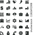solid black flat icon set... | Shutterstock .eps vector #1182692308