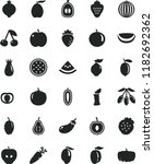 solid black flat icon set... | Shutterstock .eps vector #1182692362