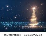 christmas shiny tree background ...