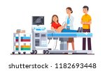 doctor doing ultrasound fetus... | Shutterstock .eps vector #1182693448