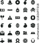 solid black flat icon set... | Shutterstock .eps vector #1182697318