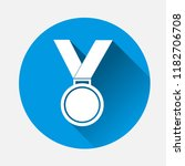 vector icon medal on blue... | Shutterstock .eps vector #1182706708