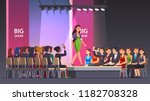 catwalk model woman showing... | Shutterstock .eps vector #1182708328