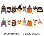 Cute Kitties Border Set With...