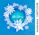 merry christmas and happy new... | Shutterstock .eps vector #1182711148