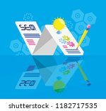 search engine optimization with ... | Shutterstock .eps vector #1182717535