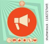 speaker  bullhorn icon | Shutterstock .eps vector #1182727645