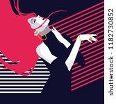 fashion woman in style pop art. ... | Shutterstock .eps vector #1182730852