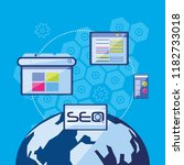 search engine optimization with ... | Shutterstock .eps vector #1182733018