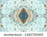 seamless pattern. tiffany color ... | Shutterstock . vector #1182734305