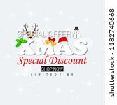 merry christmas sale discount... | Shutterstock .eps vector #1182740668