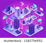 datacenter technology and new... | Shutterstock .eps vector #1182756952