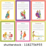 hair styling and manicurist...   Shutterstock .eps vector #1182756955