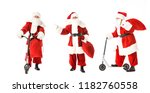 Collage Of Santa Claus With...