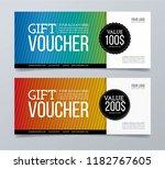gift voucher card. | Shutterstock .eps vector #1182767605