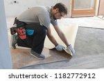 professional contractor... | Shutterstock . vector #1182772912