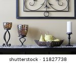 Table With Decorative Items