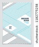 futuristic minimal brochure... | Shutterstock .eps vector #1182775258