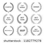 sport awards and best nominee... | Shutterstock .eps vector #1182779278