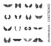 freedom wings emblems set.... | Shutterstock .eps vector #1182782602