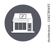 flower shop building icon in...