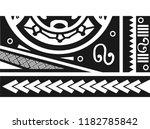 maori   polynesian tattoo style ... | Shutterstock .eps vector #1182785842