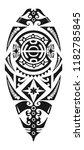 maori   polynesian tattoo style ... | Shutterstock .eps vector #1182785845