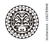 maori   polynesian tattoo style ... | Shutterstock .eps vector #1182785848