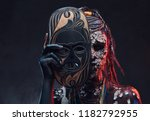 close up portrait of an african ... | Shutterstock . vector #1182792955