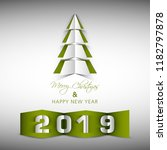 happy new year 2019 text design ... | Shutterstock .eps vector #1182797878